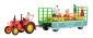 KIB/H0 LANZ Traktor mit Festwagen, inkl. 5 Figuren