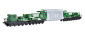 H0 Schienentiefladewagen MAN Uaai 687.9 mit Transformator Sped. Kübler