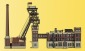 KIB/N Förderturm mit Maschinenhaus und Kohlewäschegebäude