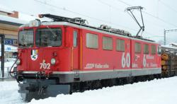 RhB Ge 6/6 II 702 Universallok 60 Jahre - 6 Mill.Km