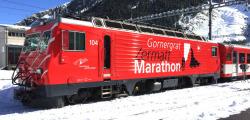 """MGB HGe 4/4 104 """"Gornergrat Zermatt Marathon"""""""