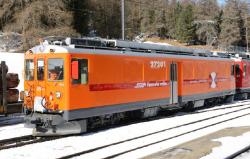RhB Xe 4/4 272 01 maintenance railcar Bernina line