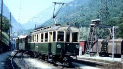 RhB BCFe 4/4 38 railcar green/cream