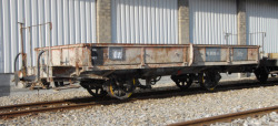 RhB Xk 8616 Bahndienst-Flachwagen grau
