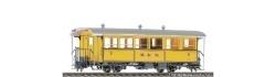 RhB BC 110 heritage passenger coach yellow