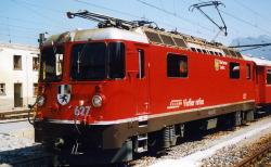 "RhB Ge 4/4 II 627 ""Reichenau-Tamins"" loco red 0m Finescale"