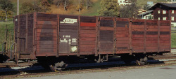 RhB E 6612 open goods car timber side wall 0m