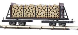 Flachwagen mit Holzladung