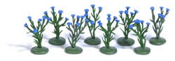 8 Kornblumenpflanzen H0