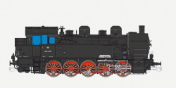 Dampflok, H0, BR T16.1, 694 1266 ÖBB, Ep III, schwarz, Vorbildzustand um 1949, LokSound, Raucherzeuger, Rangierkupplung, DC/AC