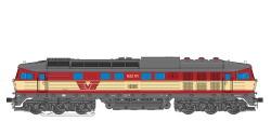 Diesellok, H0, BR 132, BR 232-04, Captrain Ep VI, grau-hellgrün, Vorbildzustand um 2016 LokSound, Raucherzeuger, DC/AC