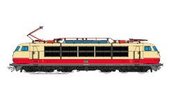 E-Lok, H0, E03, 103 198, DB Ep IV, TEE, Vorbildzustand um 1979, Sound + Panto, DC/AC