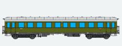 Eilzugwagen G36, H0, DRG C4i-36 grün, Ep II, DC