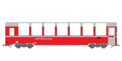 Panoramawagen BEX, Pullman IIm, RhB Bp 2525, rot, Ep VI