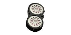 Zwei Lautsprecher 16mm, oval, 8 Ohm, 1~2W, mit gemeinsamer Schallkapsel