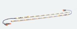 $ Innenbeleuchtungs-Set mit Decoder + Schlusslicht, 255mm, teilbar, PowerPack Option, 11 LED, gelb, Spurweite: N, TT, H0