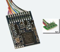 LokPilot V4 M4, Multiprotokoll MM/DCC/SX/M4, 8-pol. Stecker NEM652, Kabelbaum