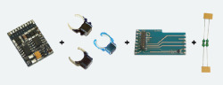 LokPilot Digitalset 21MTC, LokPilot V4 M4 64614 (MM/DCC/SX/M4), PCBA 51968, Magnet 51962,   Entstördrosseln