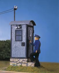 Track-side telephone booth