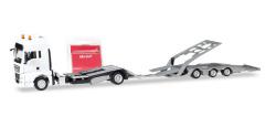 Minikit MAN TGX XXL LKW-Transporter-Hängerzug, weiß