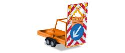 Verkehrssicherungsanhänger, kommunalorange