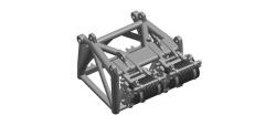Zubehör Rollenpaket für 600 Tonnen Hakenflasche Liebherr LR 1600/2 Raupenkran