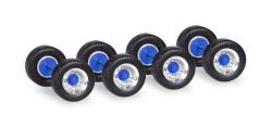 Zubehör Radsätze Breitreifen für Auflieger, chrom / blau