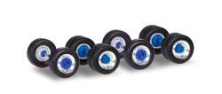 Zubehör Radsätze für Zugmaschinen mit Breitreifen, chrom / blau