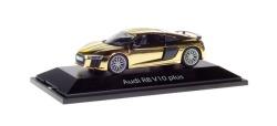 Audi R8 V10 Plus, gold-glänzend