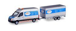 VW Crafter Kasten HD BF3 mit Tandem-Koffer-Anhänger SABA Transportservice