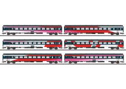 $ Schnellzugwagen-Set, 6 Wagen, NS, Ep. VI