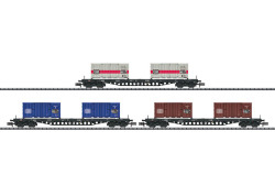 MHI/Güterwagen-Set Containertransport DB