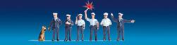 Polizisten Deutschland beleuchtet blau