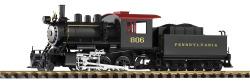 G-Dampflokomotive mit Tender Mini-Mogul PRR, Analog Sound