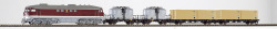 TT-Diesellok BR 130 + 2 x Ucs + 2 x Containertragwg. DR IV