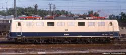~E-Lok BR 150 DB IV, blau/beige + lastg. Dec.