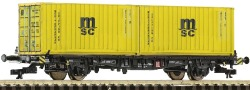 Containertragwagen +2x Cont.MSC