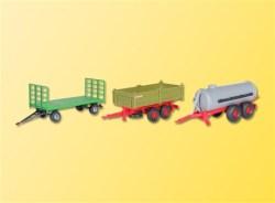 H0 Trailer set agriculture, 3