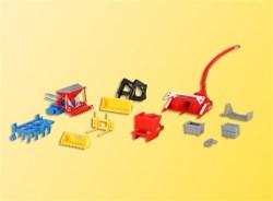 H0 Tractor attachments set