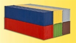H0 40 ft container, 6 pieces