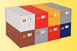 H0 20 ft container, 8 pieces