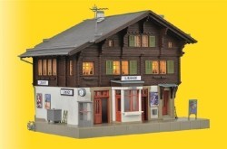KIB/H0 Bahnhof Litzirüti inkl. Hausbeleuchtungs-Startset, Funktionsbausatz