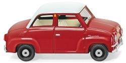 Glas Goggomobil - rot/weiß