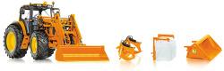 John Deere 7430 kommunal mit Frontlader und Frontlader-Werkzeugen