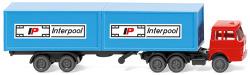 """Containersattelzug (Henschel) """"Interpool"""" -Spur N"""