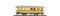 Bemo 3233160 RhB BC 110 heritage passenger coach yellow