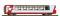 Bemo 3289127 RhB Bp 2537 Glacier-Express Panoramawagen