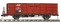 Bemo 9455114 RhB Fb 8504 Stahlwand-Hochbordwagen rotbraun