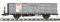 Bemo 9455137 RhB Fb 8517 open sided goods car steel walls grey 0m - M 1:45