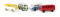 Brekina 31553 VW Kombi T1b Economy - 3 Farben sortiert -